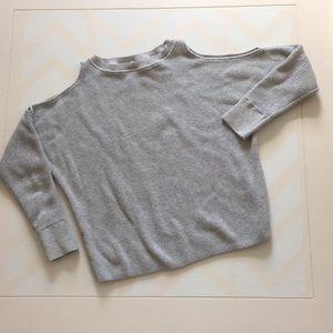 Loft, cold shoulder sweater
